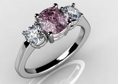 darren pink 3stone 4prong